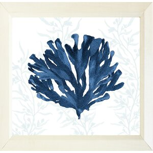Decorative Navy Coral II by Stacey Powell Framed Graphic Art by Buy Art For Less