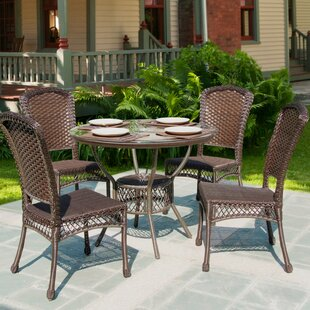 Garden 5 Piece Outdoor Dining Set By W Unlimited