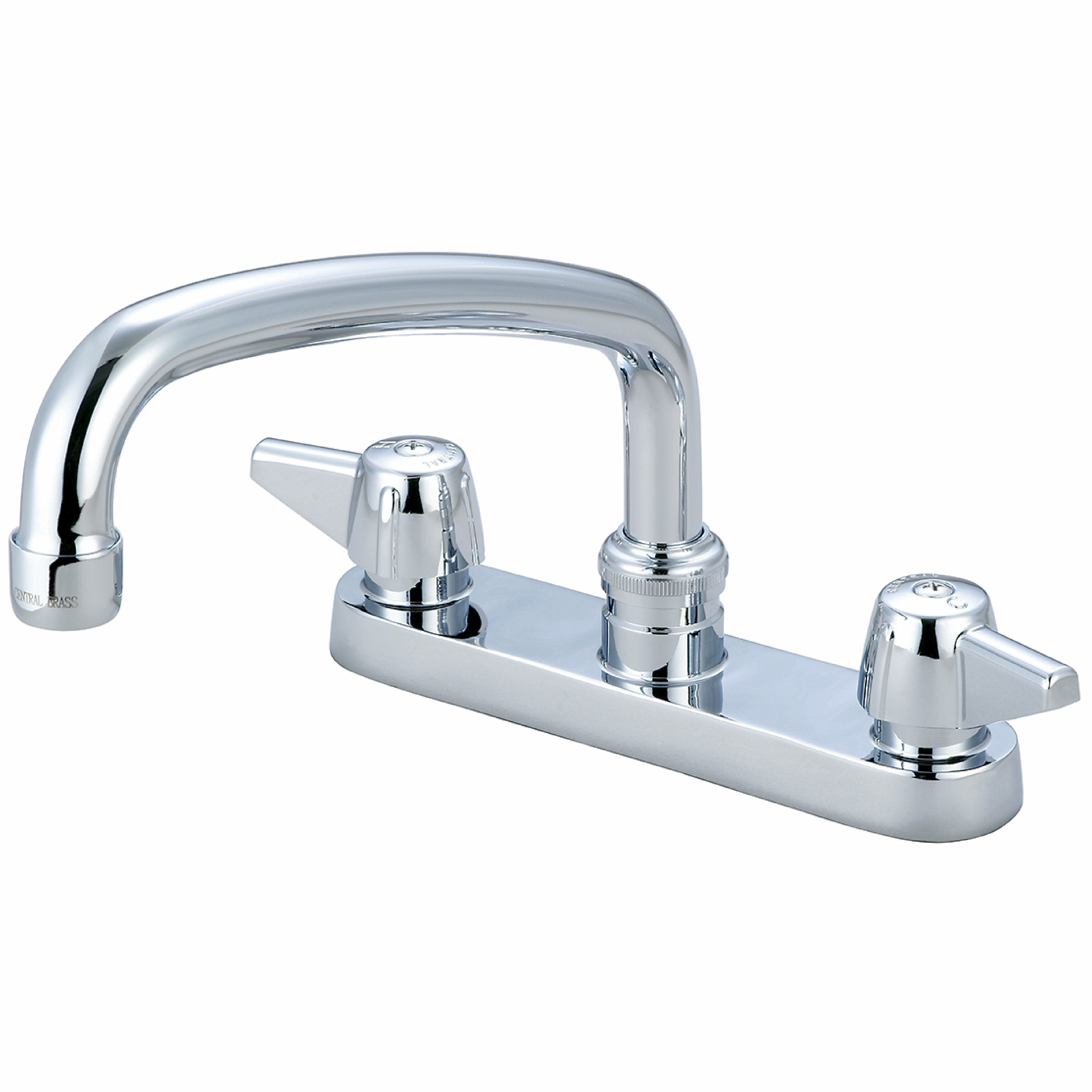 Central Brass Double Handle Kitchen Faucet Reviews Wayfair
