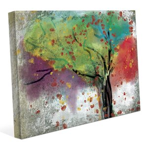 'Changing Trees' Painting Print on Wrapped Canvas by Click Wall Art