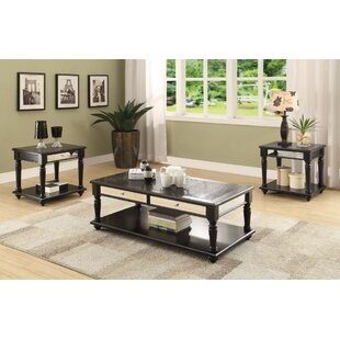 Affordable Price Brockley coffee and End Table Set (Set of 3) ByMercer41