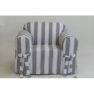 Stripe Box Cushion Armchair Slipcover