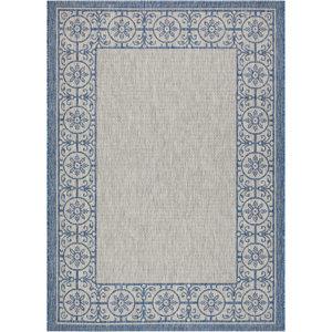 Cochrane Ivory/Blue Indoor/Outdoor Area Rug