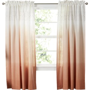 arashi solid semisheer rod pocket single curtain panel - 63 Inch Curtains