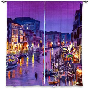 Hatboro David Lloyd Glover's Romantic Venice Night Room Darkening Curtain Panels (Set of 2)