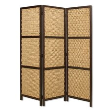72 x 60 Braided Rope 3 Panel Room Divider by Screen Gems