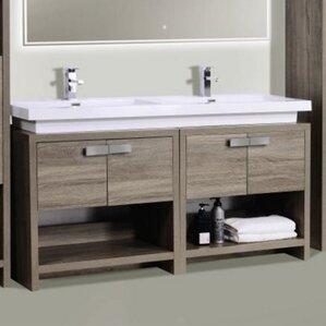 Cabinets For Vessel Sinks In Bathrooms vessel sink vanities you'll love | wayfair
