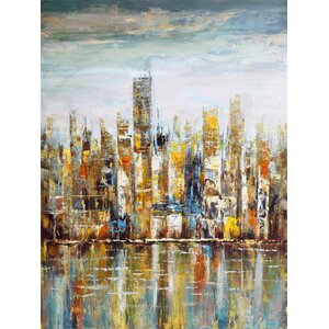 'Wall Décor Downtown' Painting Print on Wrapped Canvas by Latitude Run
