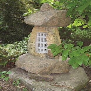 Japanese stone garden lanterns wayfair 4 piece garden stone lantern set workwithnaturefo