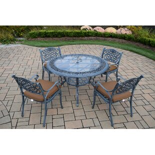 Mississippi 5 Piece Dining Set with Cushions ByOakland Living