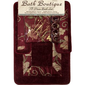 Marlton Shower Curtain SetParis Shower Curtain Sets   Wayfair. Maroon Shower Curtain Set. Home Design Ideas