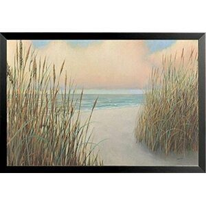 'Beach Trail I - Sand Dunes Ocean' by James Wiens Framed Painting Print by Buy Art For Less