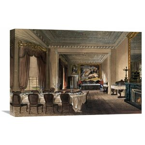 'The Dining Room, Osborne House' by James Roberts Painting Print on Wrapped Canvas by Global Gallery