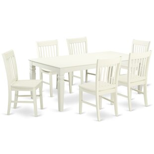 Beesley 7 Piece Solid Wood Dining Set by DarHome Co