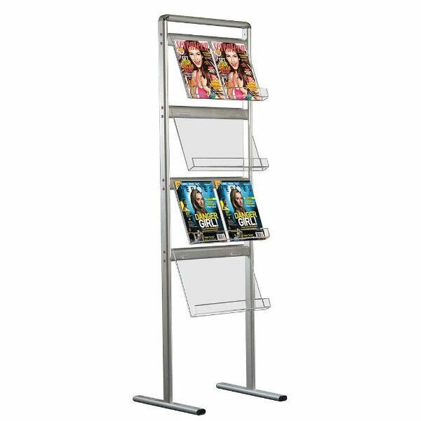 Mt Displays Free Standing Magazine Rack Stand Wayfair