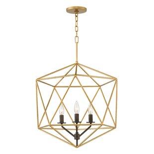 Comparison Astrid 3-Light Foyer Geometric Pendant By Hinkley Lighting
