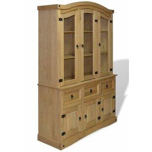 Mexican Pine Corona Curio Cabinet