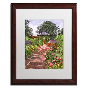 Carrington Garden by David Lloyd Glover Matted Framed Painting Print by Trademark Fine Art