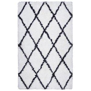 Vaquero Hand-Tufted White/Black Area Rug