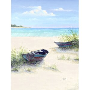 'South Coral Beach' Painting Print on Wrapped Canvas by Highland Dunes