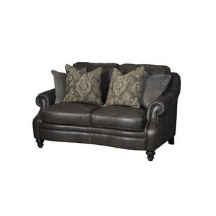 Shantell Leather Loveseat By Darby Home Co