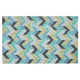 Bargain Hosler Hand-Tufted Blue/Green Indoor/Outdoor Use Area Rug ByWrought Studio