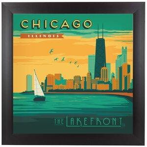 Chicago Lakefront Framed Vintage Advertisement by East Urban Home