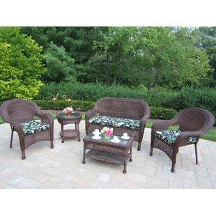 Kingsmill 5 Piece Sofa Set with Cushions By Rosecliff Heights
