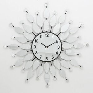 Mirrored Petal Wall Clock