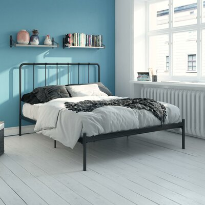 Mystic Platform Bed Hashtag Home Color: Black, Size: Full