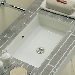 Price Check Tech Ceramic Rectangular Undermount Bathroom Sink with Overflow ByScarabeo by Nameeks
