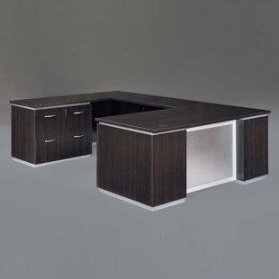 Pimlico Lateral File U-Shape Executive Desk by Flexsteel Contract