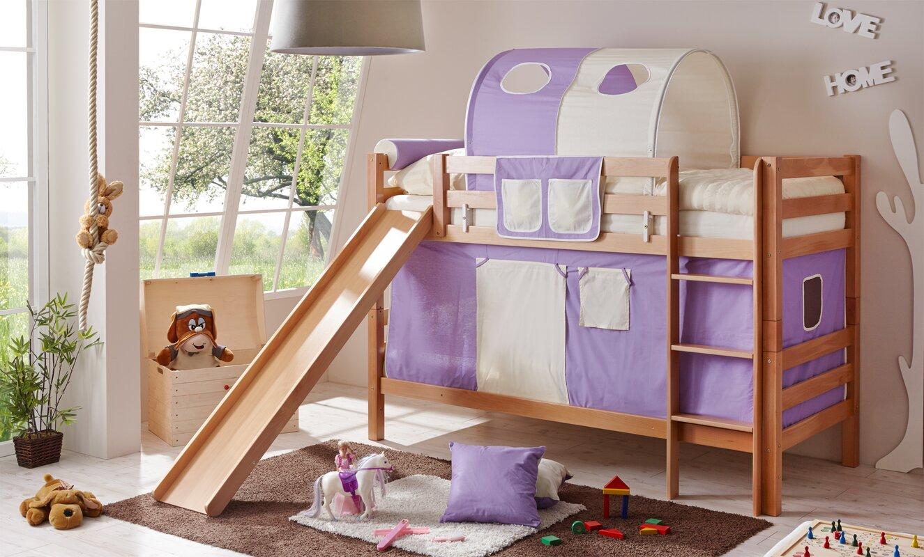 ticaa etagenbett lupo mit rutsche 90 x 200 cm. Black Bedroom Furniture Sets. Home Design Ideas