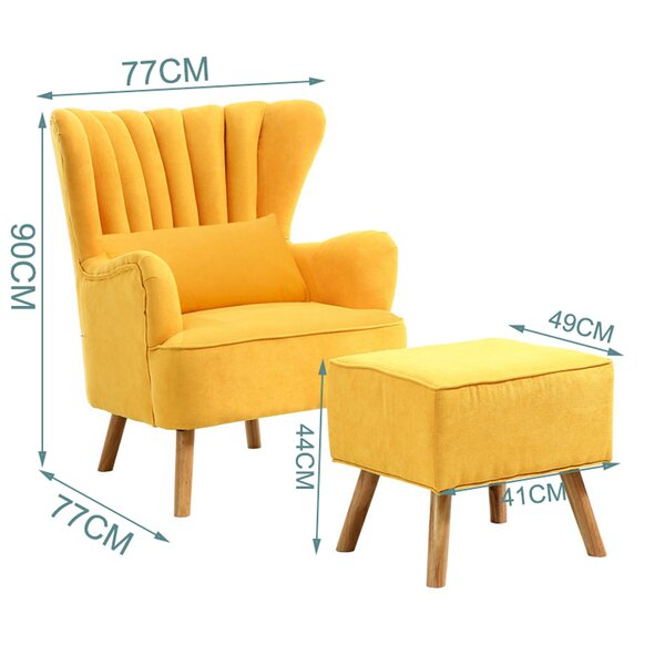 Harden Wingback Chair and Footstool