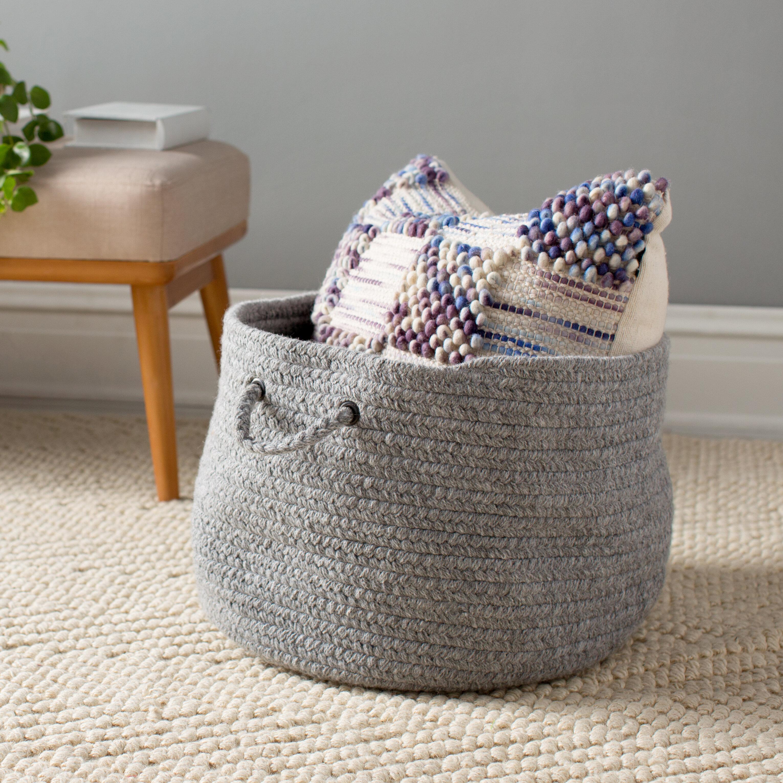 Mistana Bristol Woven Storage Basket Reviews Wayfair
