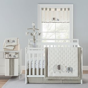 Reviews Arcola Elephant Baby Walk 4 Piece Crib Bedding Set (Set of 4) By Greyleigh