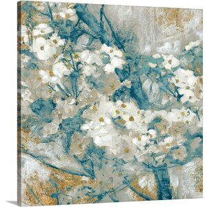 'Dogwood I' Painting Print on Wrapped Canvas by Latitude Run