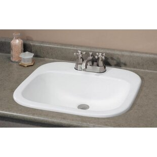 Reviews Ibiza Vitreous China Rectangular Drop-In Bathroom Sink with Overflow ByCheviot Products
