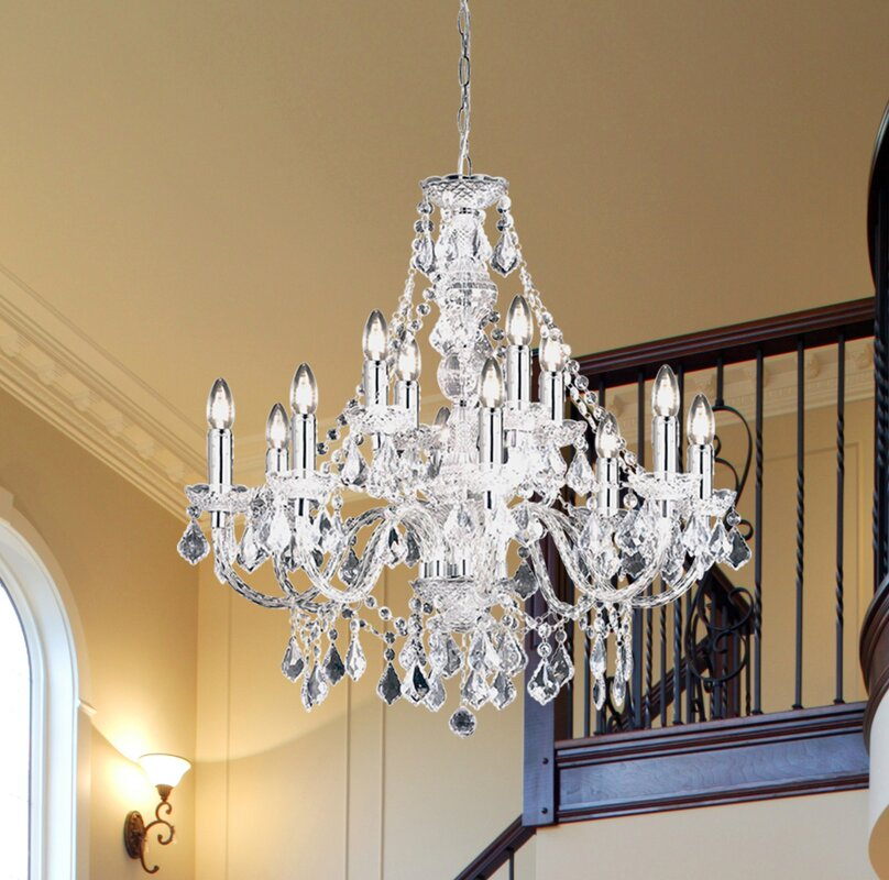 Endon lighting classy candle style chandelier reviews wayfair classy candle style chandelier aloadofball Image collections