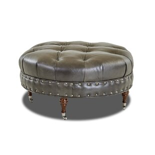 Crabtree Leather Cocktail Ottoman