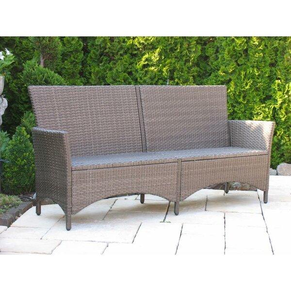 grasekamp 4 sitzer gartenbank valencia aus polyrattan. Black Bedroom Furniture Sets. Home Design Ideas