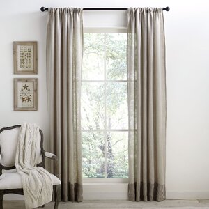 Alexi Linen Banded Curtain