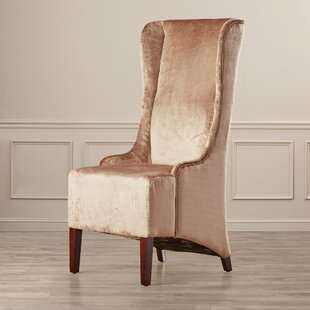 Top Arthurs Faux-Silk Velvet Wing Chair by Willa Arlo Interiors