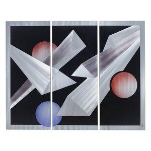 Billiards 3 Piece Graphic Art Set by Nova of California
