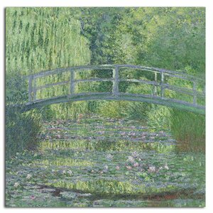 The Waterylily Pond, 1899 by Claude Monet Painting Print on Rolled Canvas by Trademark Fine Art