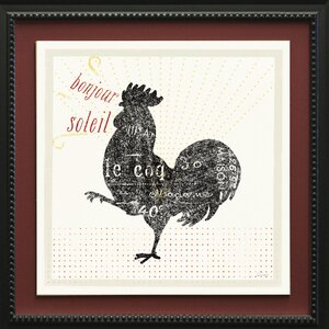 French Rooster II by Sue Schlabach Framed Graphic Art by Star Creations