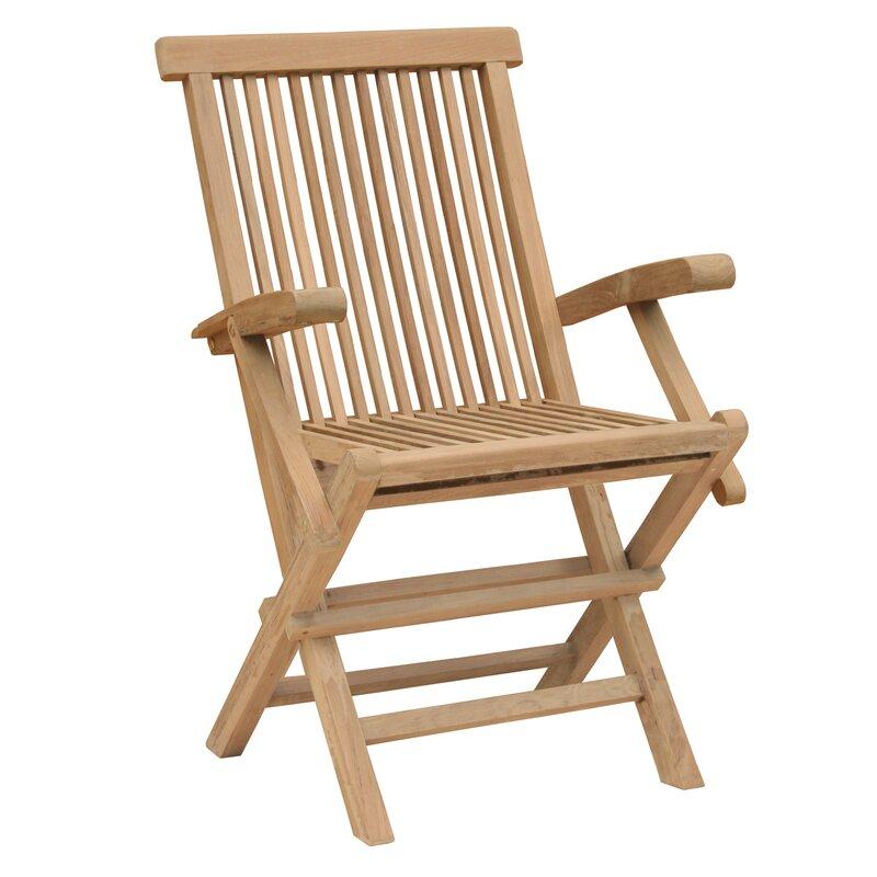 California Folding Teak Patio Dining Chair