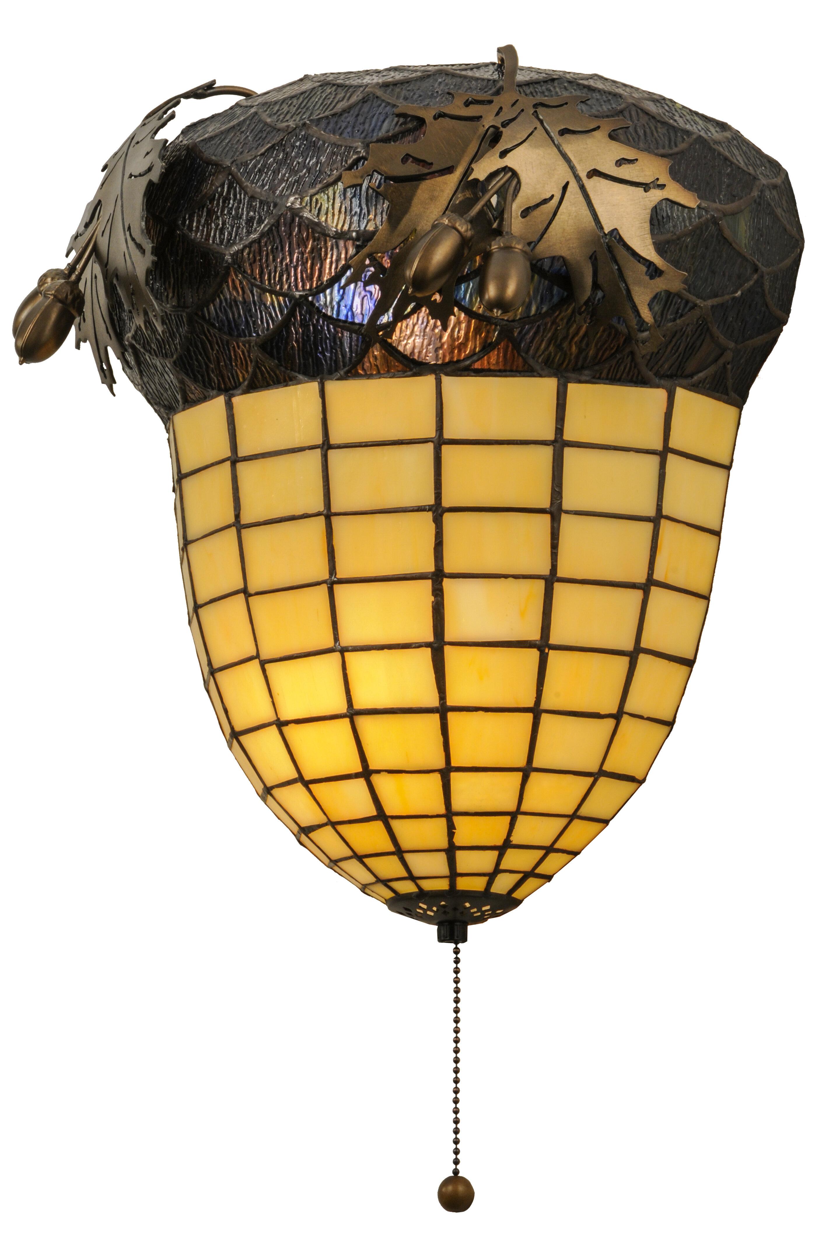 Meyda Tiffany Greenbriar Oak 2-Light Pull Chain Wall Sconce | Wayfair