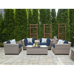 Florence 6 Piece Rattan Sofa Set with Cushions By TK Classics