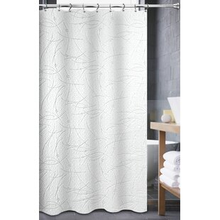 Best Reviews Mohr Matelasse Shower Curtain By Ebern Designs